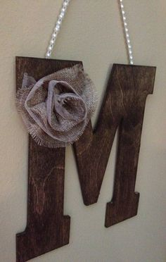 "Rustic 10"" WOODEN LETTER Wedding Decor - Letter M on Etsy, $24.50"