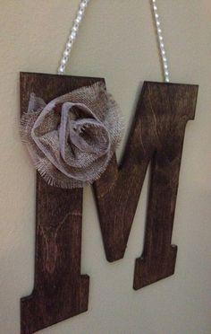 "Rustic 10"" WOODEN LETTER Wedding Decor - Letter M on Etsy, $24.50"