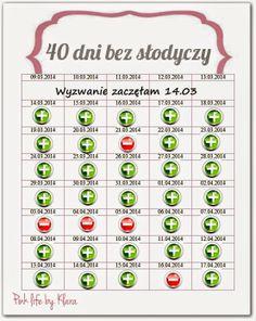 40 dni bez słodyczy :)
