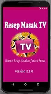 Resep Masak TV- gambar mini tangkapan layar