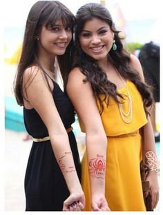 Emma and Mia from Every Witch Way Season 3. Both will be in Season 4. I think...