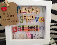 Image result for teacher scrabble letter box frame gift