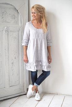 JOHANNA Linen Dress, HANKO STRIPES