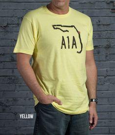 Florida A1A Mens Comfort Fit Blend T - In 5 Vintage Colors