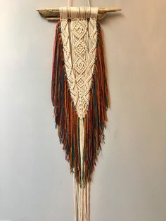 Macrame Wall Hanging by SilverMoonMacrame on Etsy