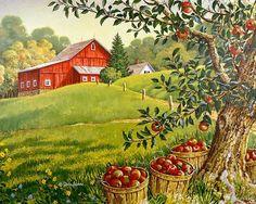 """John Sloane -- """"Season's Harvest"""", the first September painting by John Sloane"""