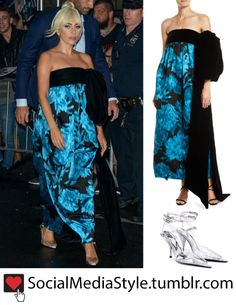 """a9691a53a67 Buy Lady Gaga s Velvet Bow Gown and PVC Pumps from """"The Late Show with  Stephen"""