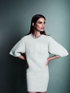 How perfect is this neoprene sweater dress for winter?