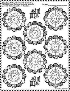 Фотография Multiplication Wheel, Math Sheets, 1st Grade Worksheets, Math Numbers, 4th Grade Math, Math Facts, Math For Kids, Elementary Math, Tricks