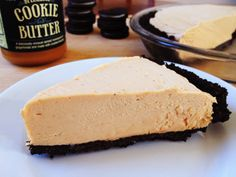 Cookie Butter Pie, made with Speculoos Cookie Butter and an Oreo crust