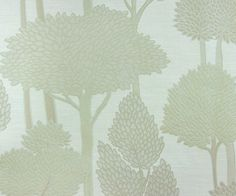 curtains - Light Grey Trees Jacquard Weave RI Fabric By The by FabricMart