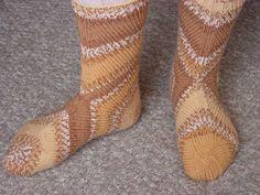 носки, связанные от пятки, фото с форума Darievna