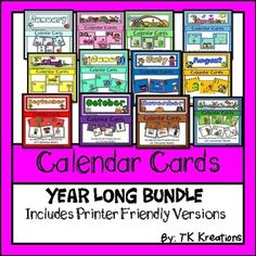 Browse over 130 educational resources created by TK Kreations in the official Teachers Pay Teachers store. Calendar Themes, Calendar Activities, Math Folders, Classroom Walls, Classroom Setup, Classroom Organization, Teachers Pay Teachers Free, Cool Calendars, Phonics Words