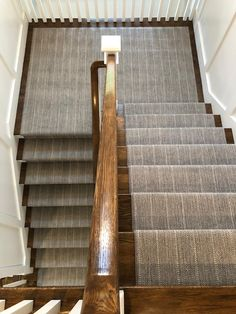 Protect your stairs and your family with a unique and stylish stair runner for both straight and spiral stairs. Check out our inventory today. Stair Runner Carpet, Updating House, House Design, Stairways, Narrow Hallway Decorating, Stairway Design