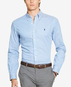 Polo Big And Tall Long Sleeve Stripe Cotton Shirt Mens Fashion Suits, Fashion Pants, Lauren Conrad, Business Casual Men, Men Casual, Camisa Ralph Lauren, Polo Shirt Outfits, Formal Men Outfit, Stylish Mens Outfits