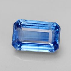14 x 9 mm Octagon Facet Natural Blue Kyanite gemstone from Nepal. Fine Quality loose gems for jewelry at GemSelect. Clay Minerals, Rocks And Minerals, Blue Crystals, Geology, Jewelry Sets, Gemstone Jewelry, Gem Stones, Fossils, Sparkles