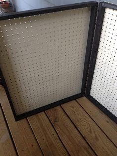 pegboard in a frame for display