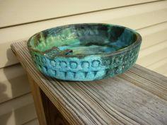 VINTAGE SEA GARDEN blue / green POTTERY ASHTRAY RAYMOR Alvino Bagni ITALY in Pottery & Glass, Pottery & China, Art Pottery | eBay