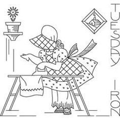 Pattern Detail | Sunbonnet Sue Tuesday - Iron | Needlecrafter