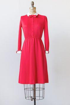 vintage 1970s red white lolita dress