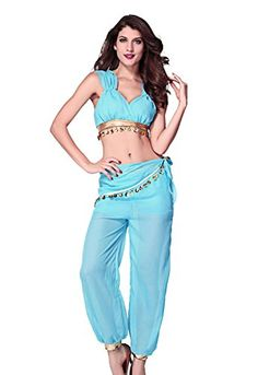 $25.99 Honeystore Women's Two Pieces Genie Halloween Adult Costume Honeystore http://www.amazon.com/dp/B00MJYZ71C/ref=cm_sw_r_pi_dp_gTTkub15B9SDW
