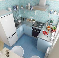 Дизайн маленькой кухни_2
