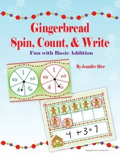 gingerbread math...... great activity to practice simple addition