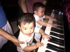 Playing piano together