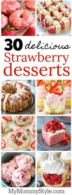 30 delicious strawberry desserts