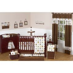 Create a peaceful nursery for your baby with the Night Owl Baby Bedding - 9 Piece Crib Set by Sweet Jojo Designs. This crib set is a modern & trendy Boy Nursery Colors, Owl Nursery, Nursery Ideas, Themed Nursery, Room Ideas, Nursery Decor, Baby Decor, Ocean Nursery, Teen Decor