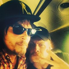 NORMAN AND MICHAEL ON THE JET THAT WILL FLY THEM TO  SAN DIEGO COMIC CON   25 JULY 2014