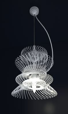 3D printed lampshade design from the whole of mankind's creations to date,