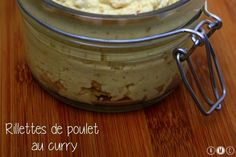 Rillettes de poulet light au curry