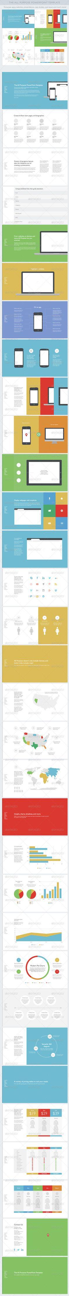 Flat All Purpose PowerPoint Template - Presentation Templates