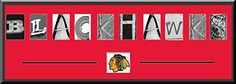 Chicago Blackhawks Alphabet Letters Art With Team Logo - Team Artistic Letters Come With Team Matting & In A Quality Black Frame Or Customize With Your Own Name Or Text- See Description ArtandMore, Davenport, IA http://www.amazon.com/dp/B00MY0NW5Y/ref=cm_sw_r_pi_dp_hbnzub13HED9D
