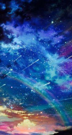 espacio o tiempo lluvia de estrellas y luz en tu interior