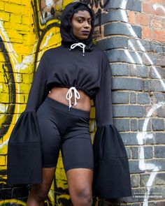 Collaboration photo shoot with designer Tanique Coburn and modeling by Tavie in Shoreditch London