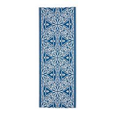 SOMMAR 2016 Tapete, tecelagem plana, interior/exterior azul/branco - Tapete para varanda