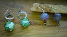 Orecchini meluccia ; orecchini perle viola