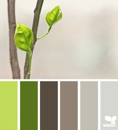 Design seeds color palette for Elegant Dream Cottage. soft grey/purple paired with yellow greens Room Colors, House Colors, Paint Colors, Colours, Wall Colors, Pantone, Design Seeds, Colour Schemes, Color Combos