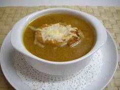 Sopa de cebolla vegetariana