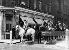 News Photo : Riders passing Le Bon Viveur Club at Shepherd Market 6 May 1936