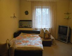 Apartament Chernyshevskogo Kaliningrad Set 3.7 km from Amber Museum in Kaliningrad, this apartment features free WiFi. The apartment is 3.7 km from K?nigsberg Cathedral.  The kitchen is equipped with a microwave and a fridge. Towels and bed linen are offered in this apartment.