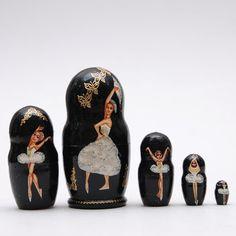 Ballet Nesting Dolls matryoshka doll set of 5 by BestGiftIdeas