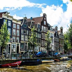 Touring the canals in Amsterdam. Photo courtesy of nodestinations on Instagram.