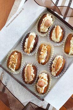 Datteri ripieni di mascarpone e noci - Stuffed dried dates with mascarpone and walnuts (or almonds and hazelnuts) | From Zonzolando.com