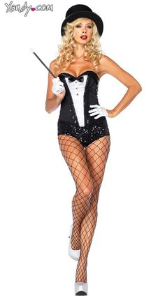 Sexy Magician Costume Kit, Adult Magician Halloween Costume, Sequin Magician Costume