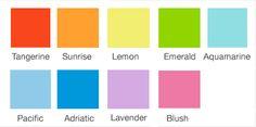 sunrise pantone colors - Google Search