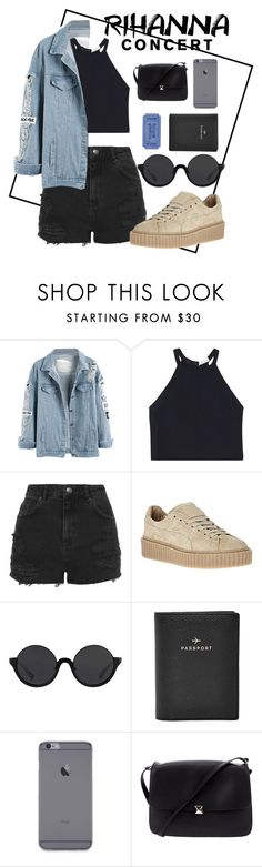 """""""Rihanna Concert"""" by polysetter-589 ❤ liked on Polyvore featuring A.L.C., Topshop, 3.1 Phillip Lim, FOSSIL and Valentino"""