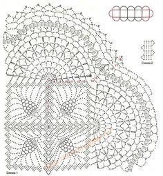 Кружевной палантин крючком